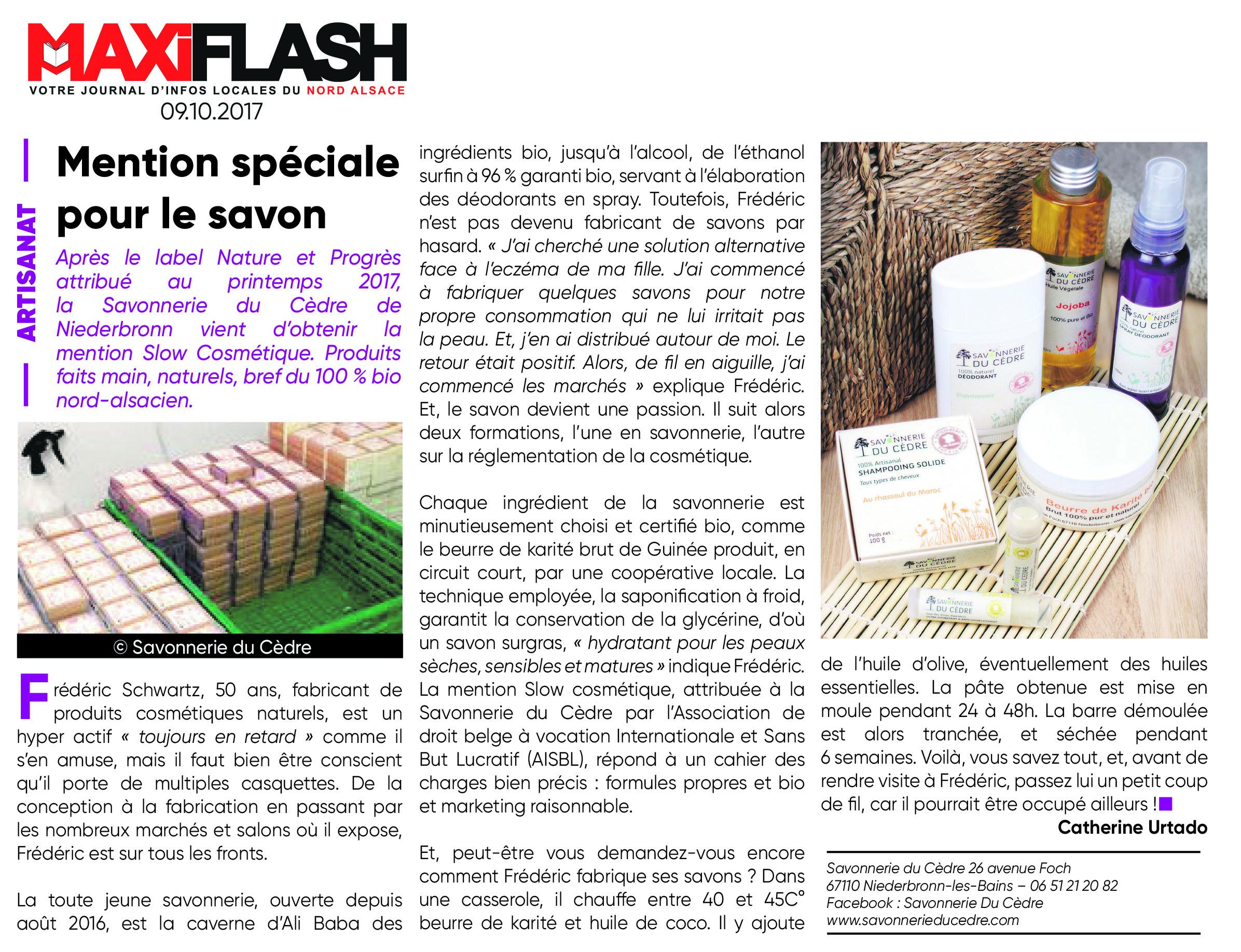 Savon saponifié à Froid Maxi Flash